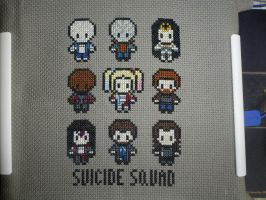Suicide Squad cross stitched by LadyMarinaKa-Fai