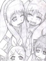 Vocaloid Girls Happy Moment by Mikay-Chan