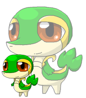 PC .: Chibi Snivy :. by ShiroFeretto23