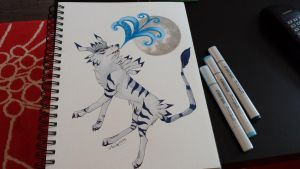 Copic Garurumon by shaina773