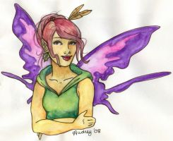 Watercolor Pencil Faerie by Audriana