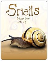 Snails Dock Icons by tiburi