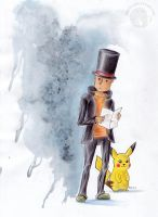 The Professor and Pikachu by Kqeina