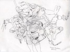 03' Teenage Mutant Ninja Turtles by FlowerPhantom