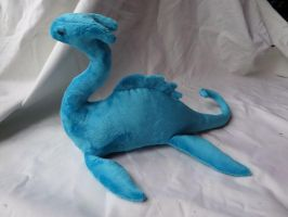Turquoise Loch Ness Monster Plush by Zavahier