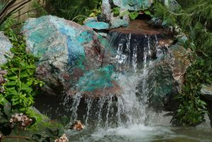Waterfall detail by 3feathers
