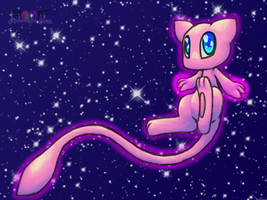starry eyed mew by Artistonfire