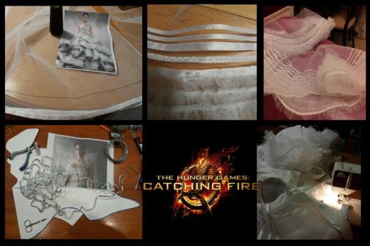 Katniss Wedding Dress W.I.P by Tamiyo-Cosplay