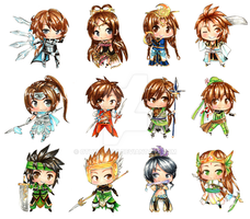Dynasty Warriors Chibis by mersan-sama