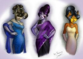 Evening Ladies - Colors by JennissyCooper