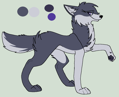 new character-Sapphire(DuskPack) by KaylitheHedgecat
