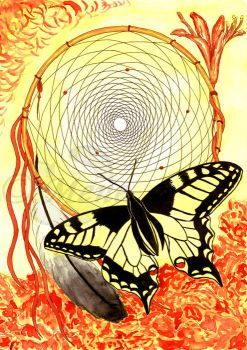 Dreamcatcher and butterfly by mene