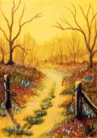 ACEO Morning Glow by annieoakley64