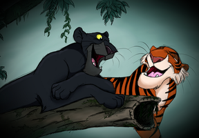 Bagheera and Shere Khan _ 001 by SouriPL