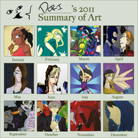 2011 art summary by Doridachi
