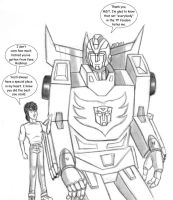 Rodimus and I by MDTartist83