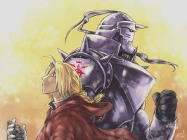 [FMA] Elric brothers by LeonS-7