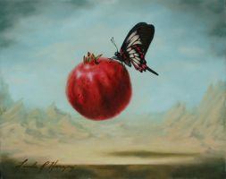 Fly By Fruitie Pomegranate by LindaRHerzog