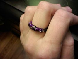 Purple coiled Ring by EllasDesigns