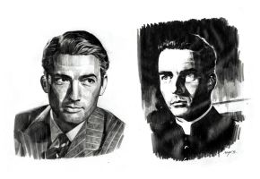 Portrait Sketch Of Peck And Clift by sabbathsoul