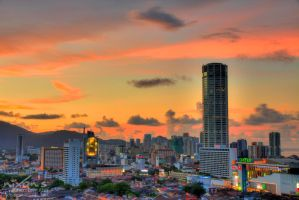 Sunset of October the third - Penang (closeup) by fighteden