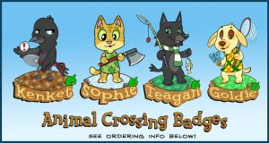 Animal Crossing Badges by sophiecabra