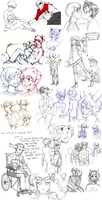 Homestuck Sketch Dump by VulpesLunaris