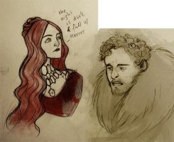 Game of Thrones S2 sketches by snowapples