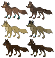 Aztec Wolf Designs~ CLOSED by SapphireSquire