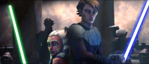 Ahsoka and Anakin in Pallace by AhsokaTanoFan2