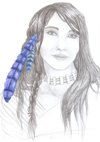 Blue Jay Woman by SoleiBee