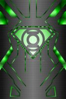Green Lantern Superboy Powersuit Background te by KalEl7