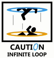 Portal - Caution Infinite Loop by caycowa