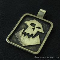 Bronze Orc pendant by Sulislaw