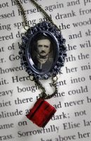 Edgar Allen Poe Portrait Necklace by NeverlandJewelry