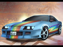 Rainbow Dash Car wallpaper by x-Nekopunch-x