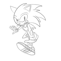 Sonic Boom Sonic lineart by Explodering