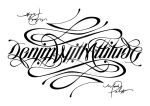 Denim With Attitude Ambigram by MarkPalmer
