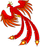 Phoenix Bird of Flame - Gardian of the South by Midnyte-Wolff