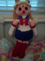 Crochet Sailor Moon Doll by Maw1227