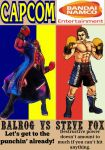Balrog vs Steve Fox video game comic boxing poster by TheGreatDevin