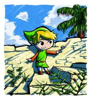 Zelda - Link playing the Wind by rafaelventura