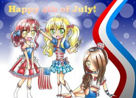Happy 4th of July!! by MikiArtSpadeMagic