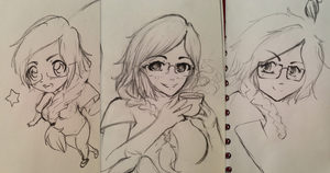 Sketches of my friend by Tindreia