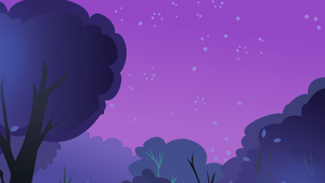Nighttime Forest (S3E6_FluttershyForest) by TheShadowStone
