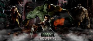 HULK AND WOLVERINE VS SABERTOOTH AND ABOMINATION by IGMAN51