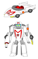 The Mach 5 as a Transformer by Gamekirby