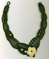 Leaves and Blossom Necklace by Wabbit-t3h