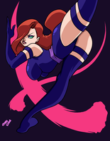 Jessica Rabbit as Psylocke by AnyaUribe