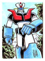Mazinger Z Sketch Card by fbwash